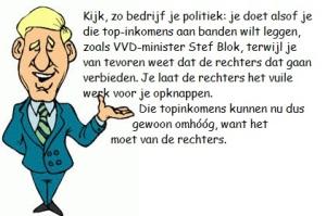 blonde blauwe blazer + tekst Stef Blok